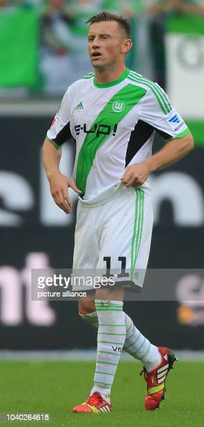 Wolfsburg's Ivica Olic during the match between VfL Wolfsburg and TSG 1890 Hoffenheim at VolkswagenArena in Wolfburg Germany 21 September 2013 Photo...