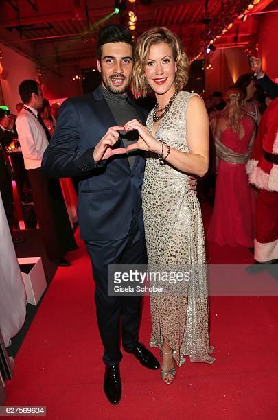 Wolke Hegenbarth and her boyfriend Oliver during the Ein Herz Fuer Kinder reception at Adlershof Studio on December 3 2016 in Berlin Germany
