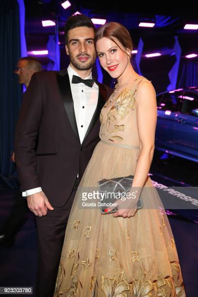 Wolke Hegenbarth and her boyfriend Oliver during the Goldene Kamera after show party at Messe Hamburg on February 22 2018 in Hamburg Germany