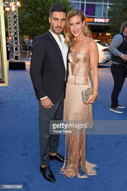 Wolke Hegenbarth and her boyfriend Oliver Vaid attend the Deutscher Schauspielpreis 2018 at Zoo Palast on September 14 2018 in Berlin Germany