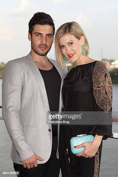 Wolke Hegenbarth and her boyfriend Oliver Vaid attend the Fashion2Night event at EUROPA 2 on August 23 2016 in Hamburg Germany