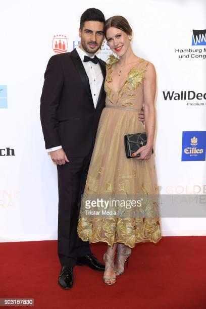 Wolke Hegenbarth and her boyfriend Oliver Vaid attend the Goldene Kamera on February 22 2018 in Hamburg Germany