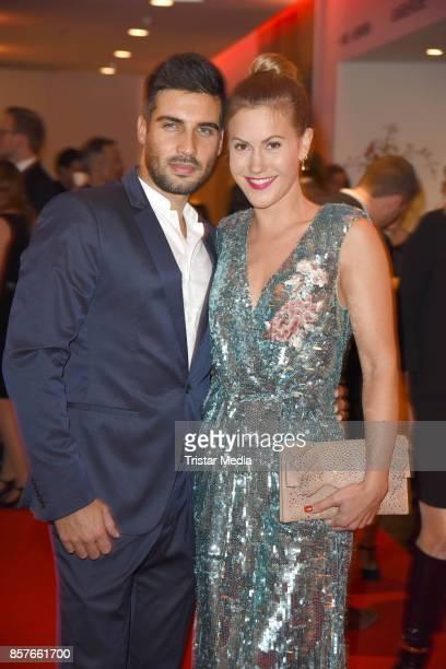 Wolke Hegenbarth and her boyfriend Oliver Vaid attend the 'Helden des Alltags' Gala at Theater Kehrwieder on October 4 2017 in Hamburg Germany