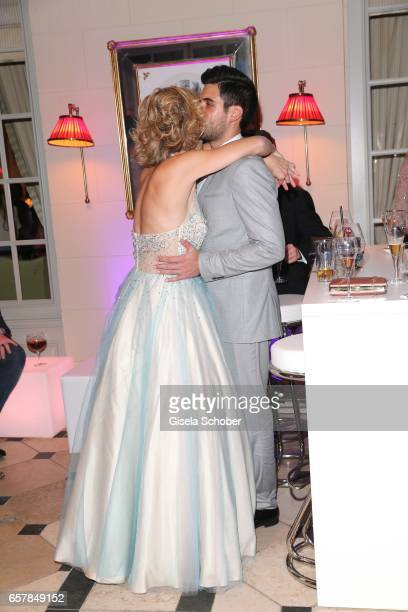 Wolke Hegenbarth and her boyfriend Oliver Vaid during the Gala Spa Awards at Brenners ParkHotel Spa on March 25 2017 in BadenBaden Germany