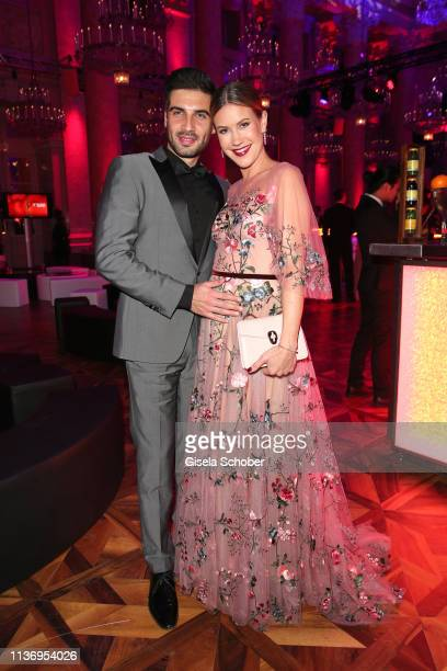 Wolke Hegenbarth and her partner Oliver during the ROMY award at Hofburg Vienna on April 13 2019 in Vienna Austria