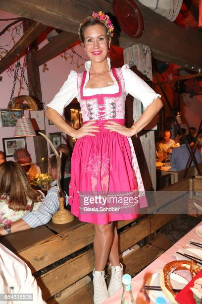 Wolke Hegenbarth and Janina Hartwig during the Oktoberfest at Theresienwiese on September 26 2017 in Munich Germany
