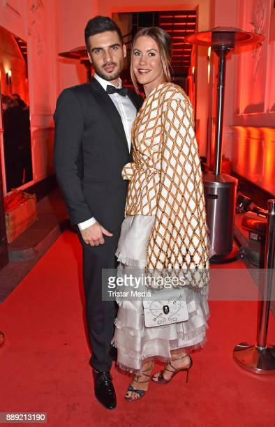 Wolke Hegenbarth and Oliver attend the Ein Herz Fuer Kinder Gala 2017 After Show Party at Borchardt Restaurant on December 9 2017 in Berlin Germany