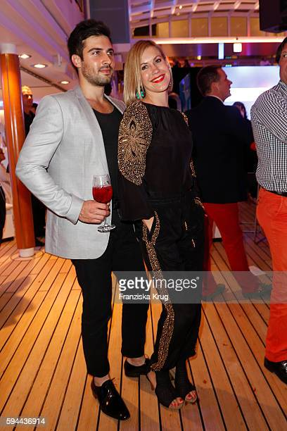 Wolke Hegenbarth and Oliver Vaid attend the Fashion2Night event at EUROPA 2 on August 23 2016 in Hamburg Germany
