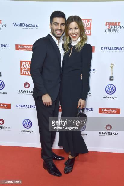 Wolke Hegenbarth and Oliver Vaid attend the 'Goldene Bild der Frau' award at Stage Operettenhaus on November 7 2018 in Hamburg Germany