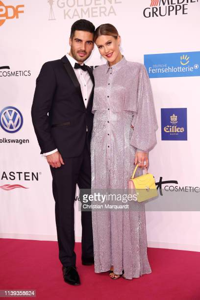 Wolke Hegenbarth and partner Oliver attends the Goldene Kamera at Tempelhof Airport on March 30 2019 in Berlin Germany