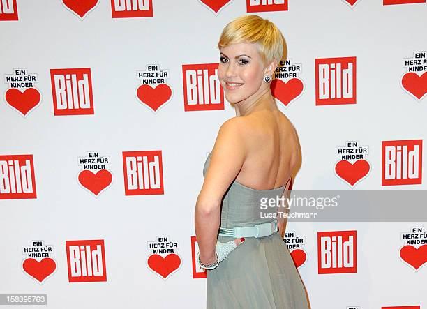 Wolke Hegenbarth attends 'Ein Herz Fuer Kinder Gala 2012' Red Carpet Arrivals at Axel Springer Haus on December 15 2012 in Berlin Germany