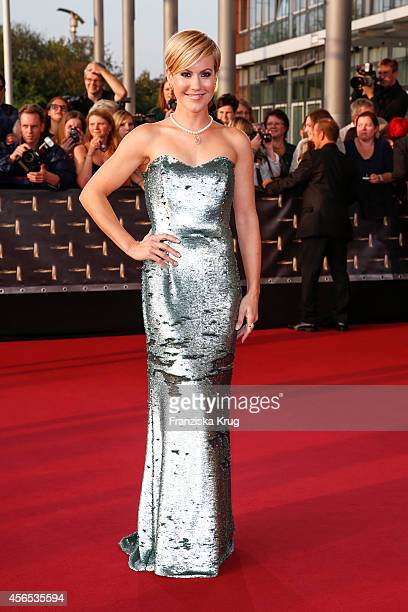 Wolke Hegenbarth attends the red carpet of the Deutscher Fernsehpreis 2014 on October 02 2014 in Cologne Germany