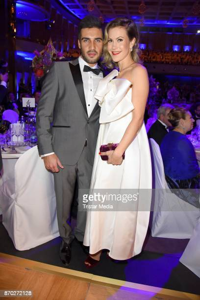 Wolke Hegenbarth in a dress of Talbot Runhof and her boyfriend Oliver Vaid attend the Leipzig Opera Ball on November 4 2017 in Leipzig Germany