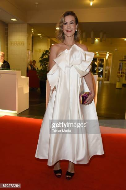 Wolke Hegenbarth in a dress of Talbot Runhof attends the Leipzig Opera Ball on November 4 2017 in Leipzig Germany