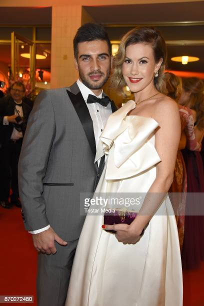 Wolke Hegenbarth mit Freund Oliver Vaid attend the Leipzig Opera Ball on November 4 2017 in Leipzig Germany