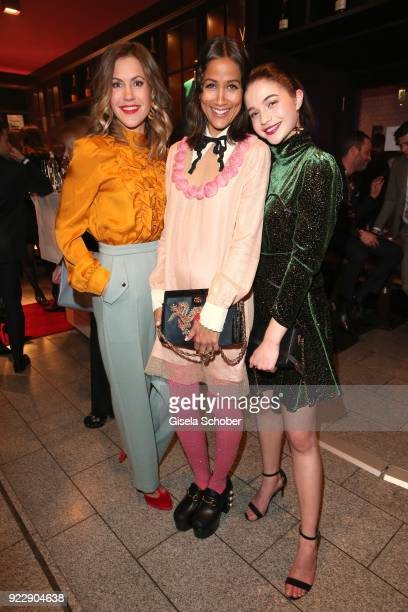Wolke Hegenbarth Rabea Schif LisaMarie Koroll during the BUNTE BMW Festival Night 2018 on the occasion of the 68th Berlinale International Film...