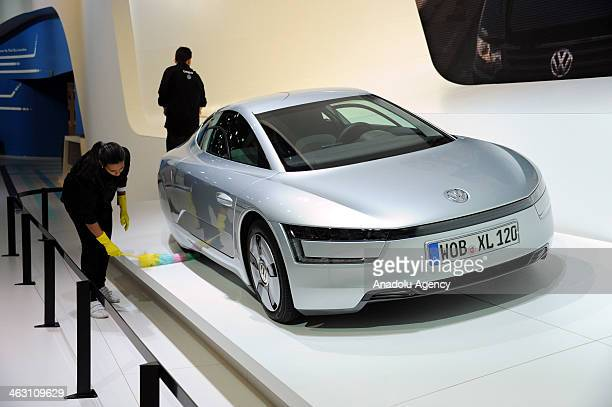 Wolkswagen XL1 is presented during 92nd Brussels Motor Show , from 16 to 26 January 2014, at Brussels Expo at the Heysel in Brussels, Belgium,...