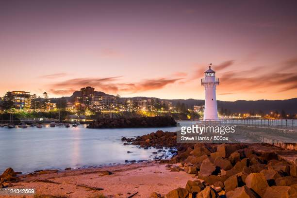 wollongong lighthouse - wollongong stock pictures, royalty-free photos & images