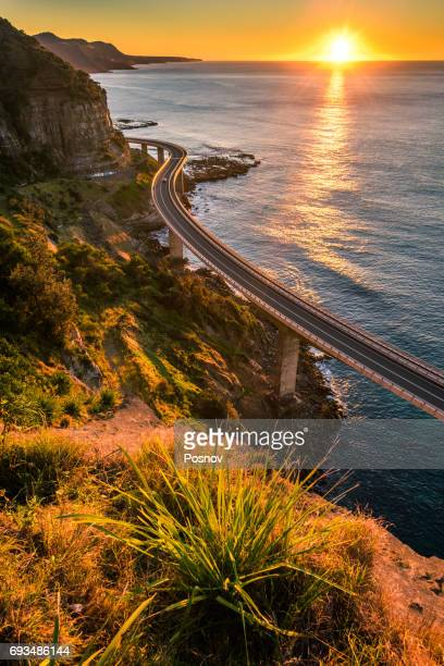 wollongong sea cliff bridge - wollongong stock pictures, royalty-free photos & images