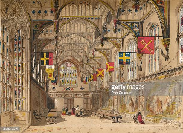 Wolsey's Hall, Hampton Court', 1845. Royal palace in Richmond upon Thames, Greater London, England. From Old England: A Pictorial Museum of Regal,...