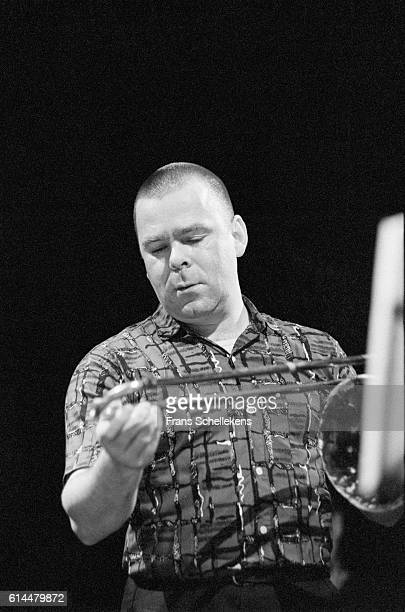 Wolter Wierbos, trombone, performs with the ICP Orchestra on November 6th 1993 at the BIM huis in Amsterdam, Netherlands