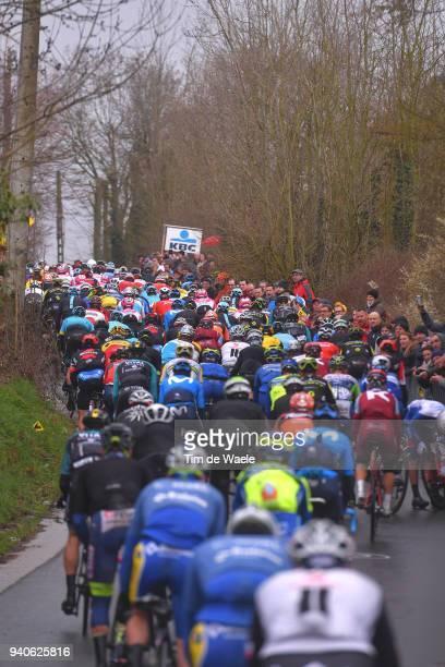 Wolvenberg / Peloton / Fans / Public / during the 102nd Tour of Flanders 2018 - Ronde Van Vlaanderen a 264,7km race from Antwerpen to Oudenaarde on...
