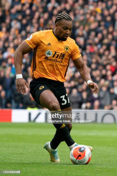 Wolverhampton Wanderers' Adama Traore during the Premier League match between Tottenham Hotspur and Wolverhampton Wanderers at Tottenham Hotspur...