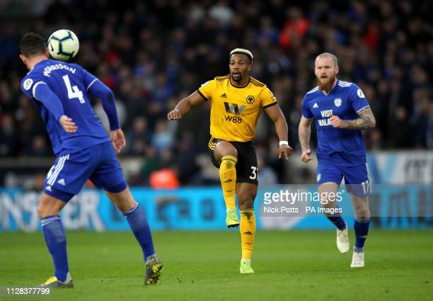 Wolverhampton Wanderers' Adama Traore in action during the Premier League match at Molineux Wolverhampton
