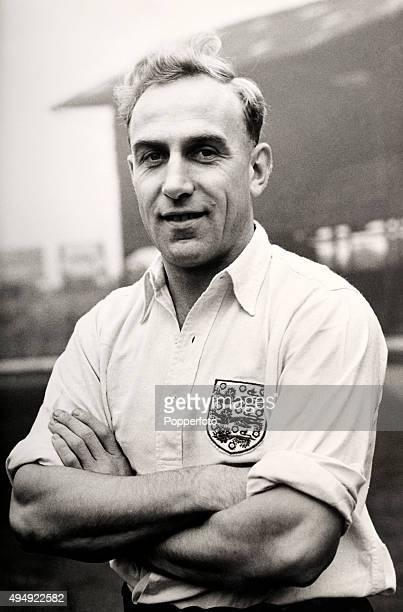 Wolverhampton Wanderers and England centrehalf Billy Wright circa 1955