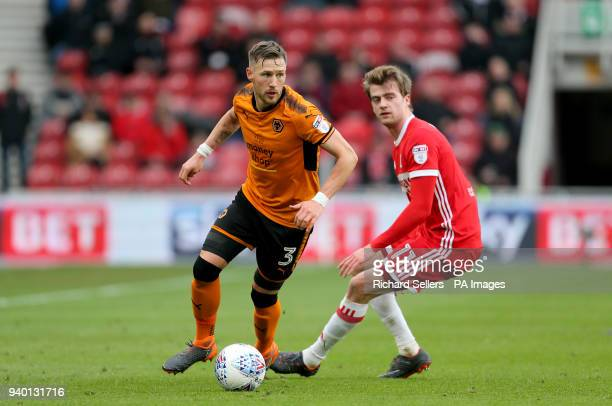 Wolverhampton Wanderers' Barry Douglas in action during the Sky Bet Championship match at Riverside Stadium Middlesbrough