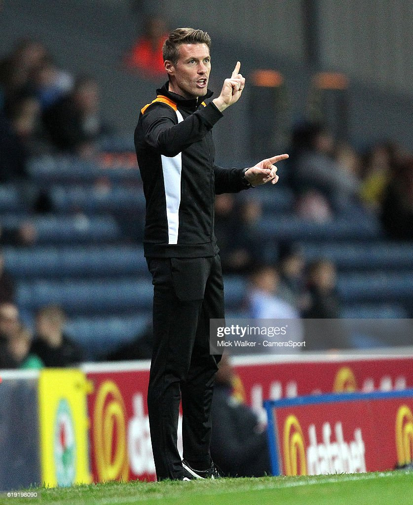 Wolverhampton Wanderers Caretaker Manager Rob Edwards during the Sky Bet Championship match between Blackburn Rovers and Wolverhampton Wanderers at Ewood Park on October 29, 2016 in Blackburn, England.