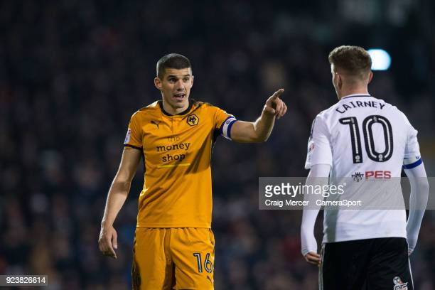 Wolverhampton Wanderers' Conor Coady during the Sky Bet Championship match between Fulham and Wolverhampton Wanderers at Craven Cottage on February...