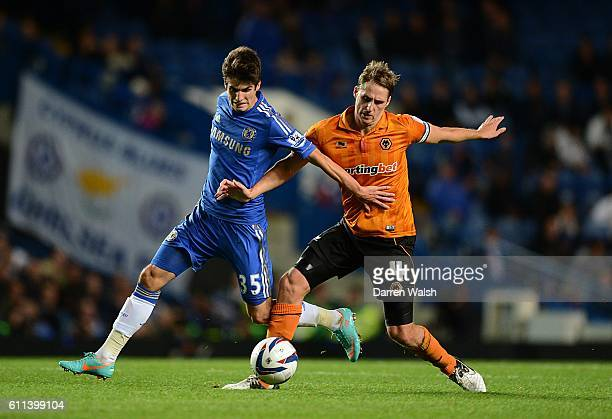 Wolverhampton Wanderers' David Edwards and Chelsea's Lucas Piazon battle for the ball