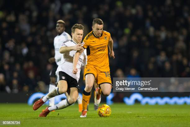 Wolverhampton Wanderers' Diogo Jota in action during the Sky Bet Championship match between Fulham and Wolverhampton Wanderers at Craven Cottage on...