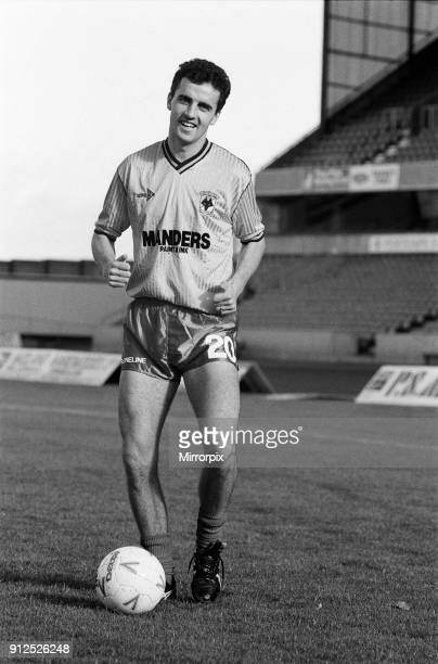 Wolverhampton Wanderers FC's new signing Paul Cook at the Molineux Stadium 4th August 1992
