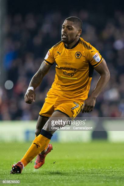 Wolverhampton Wanderers' Ivan Cavaleiro in action during the Sky Bet Championship match between Fulham and Wolverhampton Wanderers at Craven Cottage...