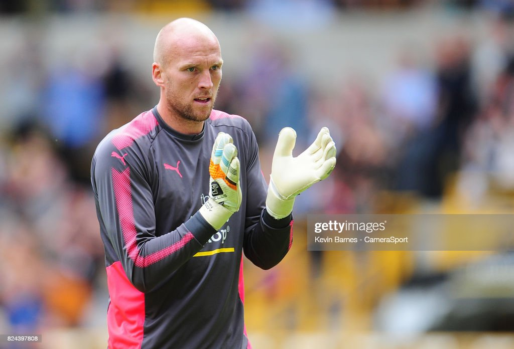 Wolverhampton Wanderers John Ruddy during the pre-season friendly match between Wolverhampton Wanderers and Leicester City at Molineux on July 29, 2017 in Wolverhampton, England.