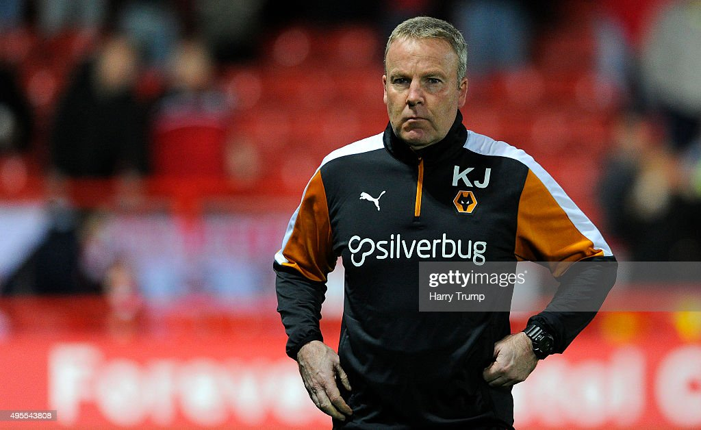 Wolverhampton Wanderers Manager Kenny Jackett during the Sky Bet Championship match between Bristol City and Wolverhampton Wanderers at Ashton Gate on November 3, 2015 in Bristol, England.