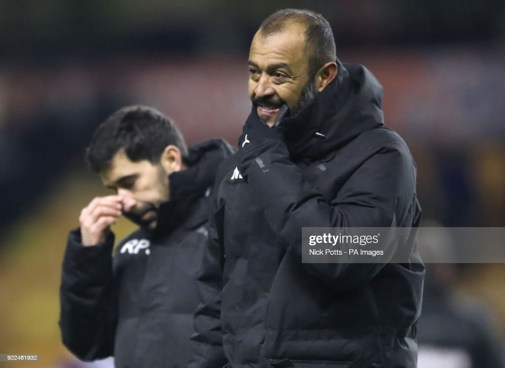 Wolverhampton Wanderers manager Nuno Espirito Santo shows his dejection after the Sky Bet Championship match at Molineux, Wolverhampton.