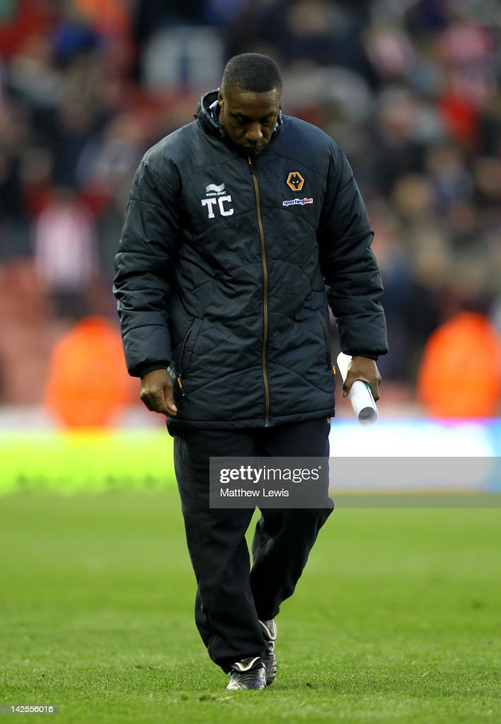 Wolverhampton Wanderers Manager Terry Connor looks dejected at the end of the Barclays Premier League match between Stoke City and Wolverhampton Wanderers at the Britannia Stadium on April 7, 2012 in Stoke on Trent, England.