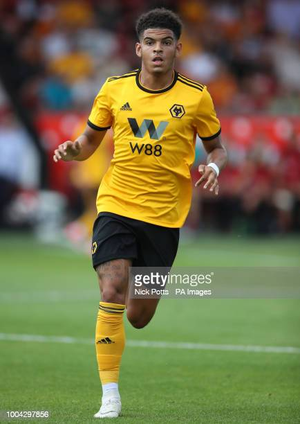 Wolverhampton Wanderers' Morgan GibbsWhite during a pre season friendly match at the Banks's Stadium Walsall