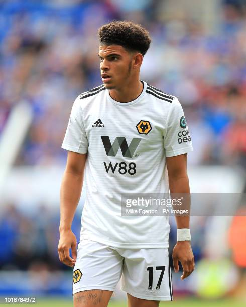 Wolverhampton Wanderers' Morgan GibbsWhite during the Premier League match at the King Power Stadium Leicester