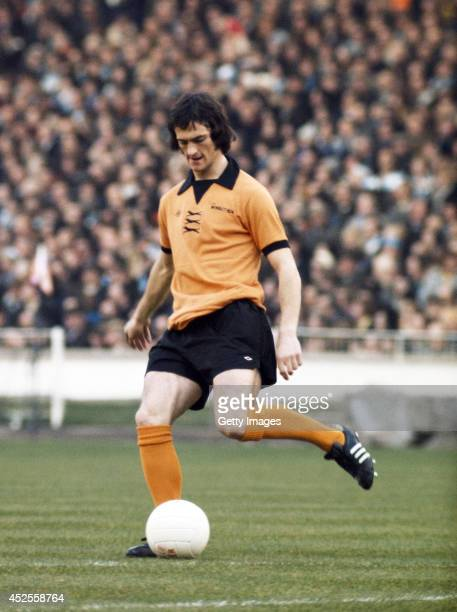 Wolverhampton Wanderers player Kenny Hibbitt in action during the 1974 League Cup Final between Wolves and Manchester City at Wembley Stadium on
