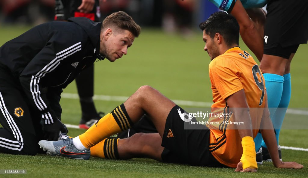 Crusaders v Wolverhampton Wanderers - UEFA Europa League - Second Qualifying Round - Second Leg - Seaview : News Photo