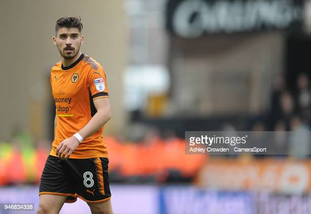 Wolverhampton Wanderers' Ruben Neves during the Sky Bet Championship match between Wolverhampton Wanderers and Birmingham City at Molineux on April...