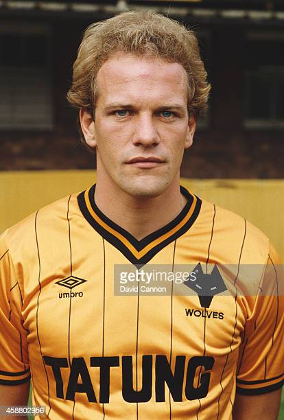 Wolverhampton Wanderers striker Andy Gray pictured before the 1982/83 season at Molineux in August 1982 in Wolverhampton England