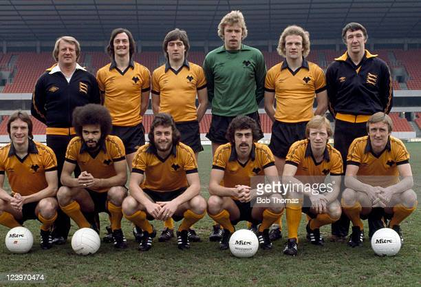 Wolverhampton Wanderers team photograph at Molineux in Wolverhampton 4th March 1980 This photograph was taken during the build up to the League Cup...