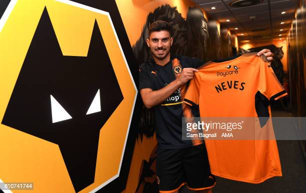 Wolverhampton Wanderers unveil new signing Ruben Neves at Molineux on July 8 2017 in Wolverhampton England