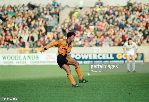 Wolves 0-2 Bolton Wanderers, FA Cup Round Four match at Molineux, Sunday 24th January 1993; pictured: Wolves midfielder Mark Burke.