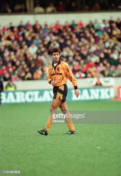 Wolves 02 Bolton Wanderers FA Cup Round Four match at Molineux Sunday 24th January 1993 pictured Wolves midfielder Mark Burke